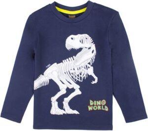 Dino World Langarmshirt  dunkelblau Gr. 98 Jungen Kleinkinder