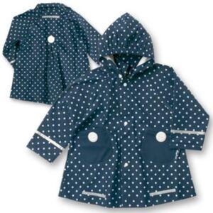 PLAYSHOES Kinder Regenmantel Punkte  dunkelblau Gr. 98 Mädchen Kleinkinder