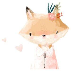 Wandtattoo Aquarell Tiere Fuchs mehrfarbig Gr. 110 x 200