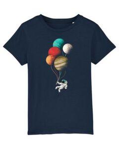 T-Shirt Balloon Spaceman T-Shirts Kinder dunkelblau Gr. 98/104  Kinder