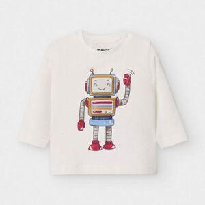 Baby Langarmshirt  creme Gr. 80 Jungen Kinder