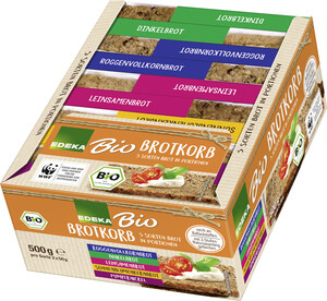 Bio EDEKA Brotkorb 5 Sorten Brot in Portionen 500g 10x 50 g