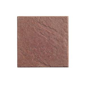 """Diephaus              Terrassenplatte """"No.1 Structure"""", 40x40x4 cm, Rot"""