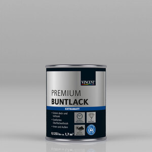 "Vincent              Premium Buntlack ""RAL 7001 Silbergrau"" Extramatt, 0,125 L"
