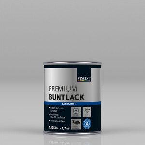 """Vincent              Premium Buntlack """"Platingrau"""" Extramatt, 0,125 L"""