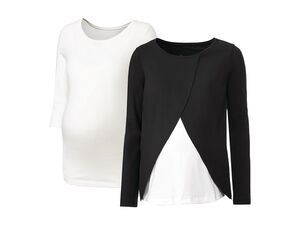 ESMARA® 2 Damen Umstandsshirts, mit Bio-Baumwolle