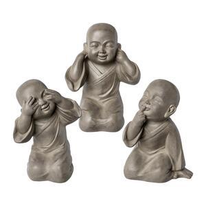 Dekofiguren-Set Buddha, 3-teilig