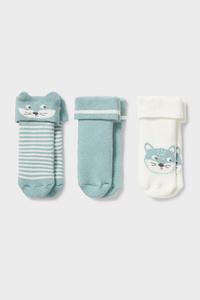 C&A Multipack 3er-Baby-Socken-Winter, Grün, Größe: 11