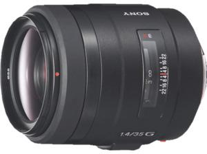 SONY SAL35F14G Vollformat - 35 mm f/1.4 G-Lens, Circulare Blende (Objektiv für Sony A-Mount, Schwarz)