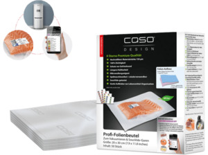 CASO 1219 20x30 Folienbeutel Transparent