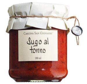 Cascina San Giovanni Sugo al tonno - Tomatensauce mit Thunfisch 180ml 0000 - Saucen, Pesto & Chutneys, Italien, 0.1800 l