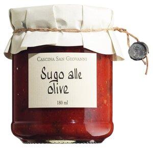 Cascina San Giovanni Sugo alle olive - Tomatensauce mit Oliven 180ml 0000 - Saucen, Pesto & Chutneys, Italien, 0.1800 l