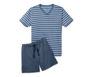 Shorty-Pyjama, Oberteil gestreift