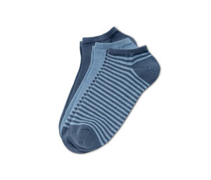 3 Paar Sneakersocken, blau