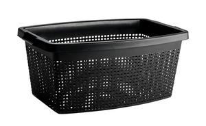 Wäschekorb 40 Liter - schwarz - Kunststoff - Sconto