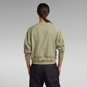 RAW Drawcord Raglan Crewneck Sweatshirt