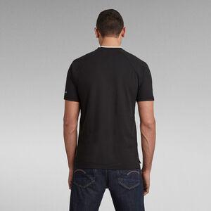 Baseball Collar Graphic Slim Poloshirt