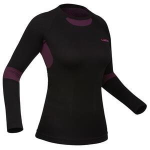 Skiunterwäsche Funktionsshirt 580 I-Soft Damen schwarz/rosa