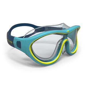 Schwimmmaske Swimdow Größe S blau/gelb