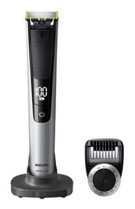 PHILIPS OneBlade Pro QP6520/20 Herrenrasierer (trimmen, stylen, rasieren, Präzisions-Trimmeraufsatz, LED-Digitalanzeige, Display, Dreitage-Bart, Stoppel-Bart)