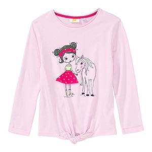 Mädchen-Shirt mit Knoten am Saum