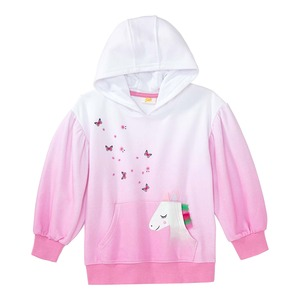 Mädchen-Kapuzenpullover mit Dip-Dye-Optik