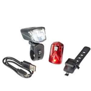 Fahrradbeleuchtung Set Front-/Rücklicht Bluebird LED 30/15 LUX USB