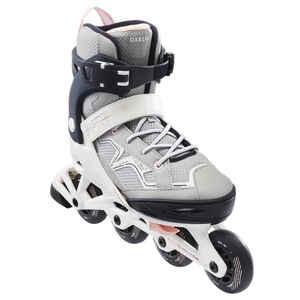 Inline-Skates Inliner Fitness FIT3 Kinder grau/rosa