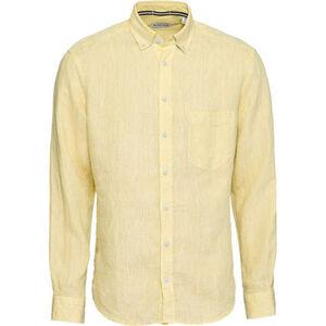 MANGUUN Leinenhemd, Button-Down-Kragen, uni, für Herren
