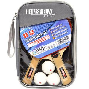 """Xtrem Toys+Sports Tischtennis-Set """"Heimspiel"""", 2x Schläger inkl. 3x Bälle und Tasche"""