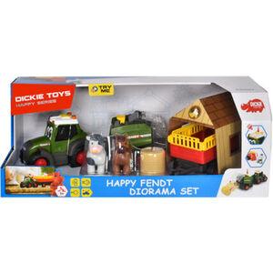 Dickie Toys Happy Series - Happy Fendt Diorama Set mit Licht & Sound, Traktor mit Zubehör