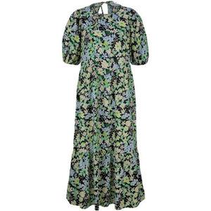 Tom Tailor Denim Kleid, Ballonärmel, rückwärtiger Schlüssellochausschnitt, für Damen