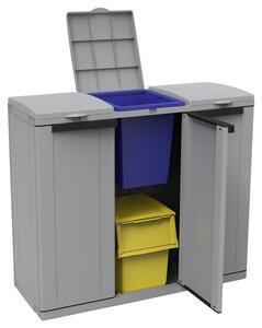 Mülltrennsystem Ecoline 3 ca. 102x89,7x39 cm