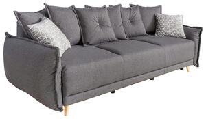 Dreisitzer-Sofa in Dunkelgrau ´LAZY LUKKA DUNKELGRAU´