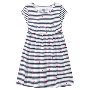 Mädchen Kleid im Streifen-Look