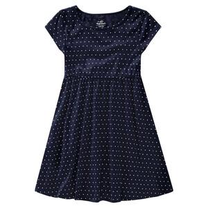 Mädchen Kleid mit Herzchen-Print