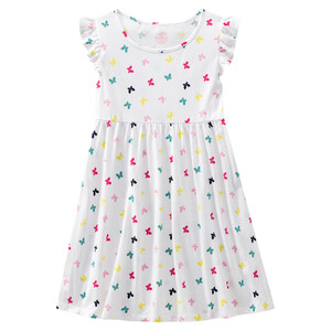 Mädchen Kleid mit Flügelärmelchen