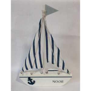 Deko-Figur Segelboot, ca. 20 x 29 x 3 cm, Holz