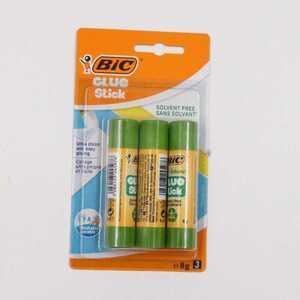 BIC Glue Stick 3 Klebestifte je 8 g, frei von Lösungsmitteln, ideal für Papier