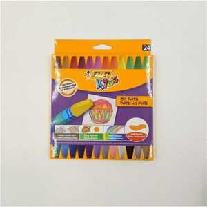 BIC Kids Ölkreide 24er-Pack Ölmalkreide Kreide Sechskantform bunt