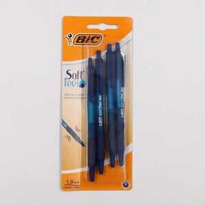 "BIC Kugelschreiber ""Soft feel"" 4er-Set Kuli mit Grip, Blau"
