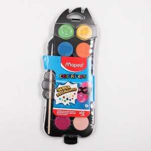 Maped Color`Peps Wasserfarben 12er Malkasten Deckfarbkasten Wassermalkasten bunt