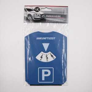 Parkscheibe, blau, 12 x 15,5 cm, Kunststoff