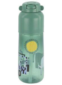 HEMA Wasserflasche Mit Trinkhalm, 300 Ml, Safari