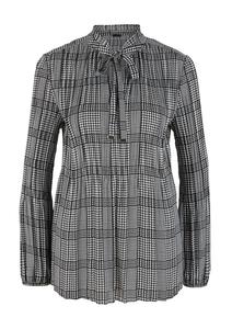 Damen Gemusterte Plissee-Bluse