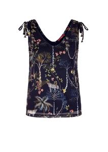 Damen Mesh-Top mit floralem Print