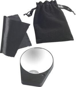 Taschen-Vergrößerungsspiegel mit LED-Beleuchtung Uni