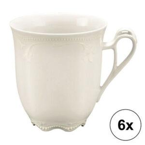 Seltmann Weiden Kaffeebecher Rubin Cream im 6er-Pack spülmaschinenfest #mikrowellengeeignet Uni