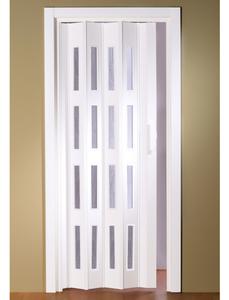 Falttür »Luciana«, Dekor: Weiß, Lamellenfenster: 4, Höhe: 202 cm