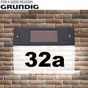 Grundig LED-Solar-Hausnummerlicht 22x17x5cm